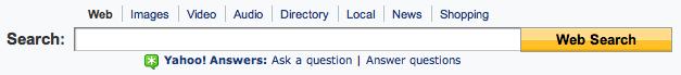 Yahoo! search form