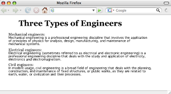 Basic Web page