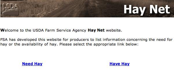 Have hay? Need hay?