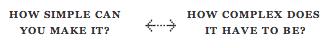 Laws of Simplicity - Reduce continuum