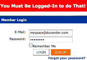 You Must Be Logged In to do That!