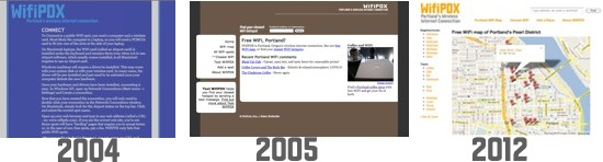 WifiPDX designs: 2004-2012