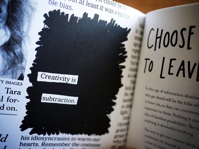 Creativity is subtraction