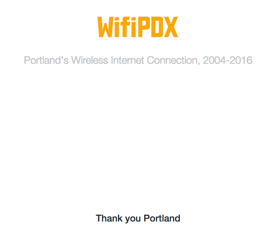 WifiPDX: Portland's wireless internet connection, 2004-2016